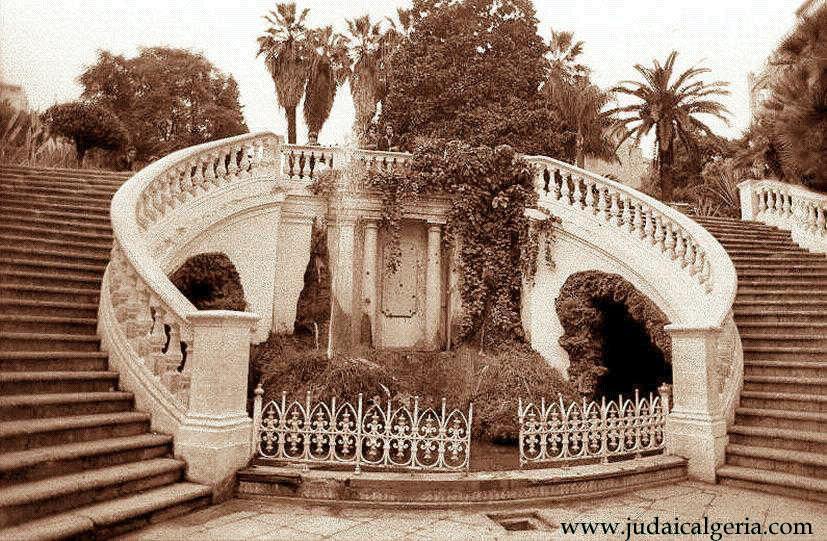 Alger escalier du parc de galland