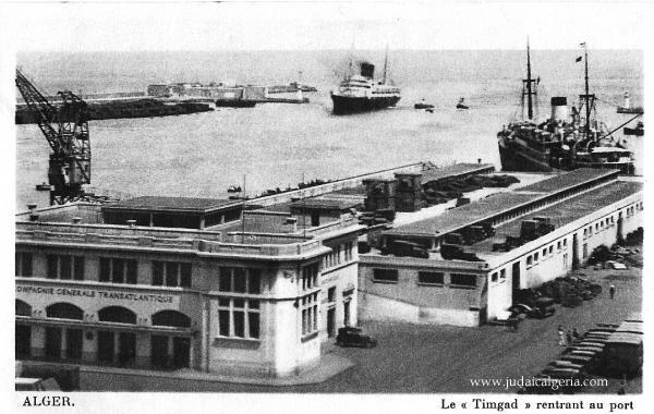Alger la gare maritime en 1939