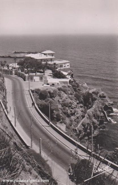 Alger le casino de la corniche pointe pescade en 1950