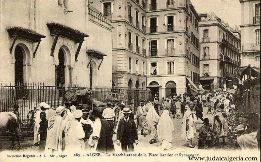 Alger le marche arabe de la place randon