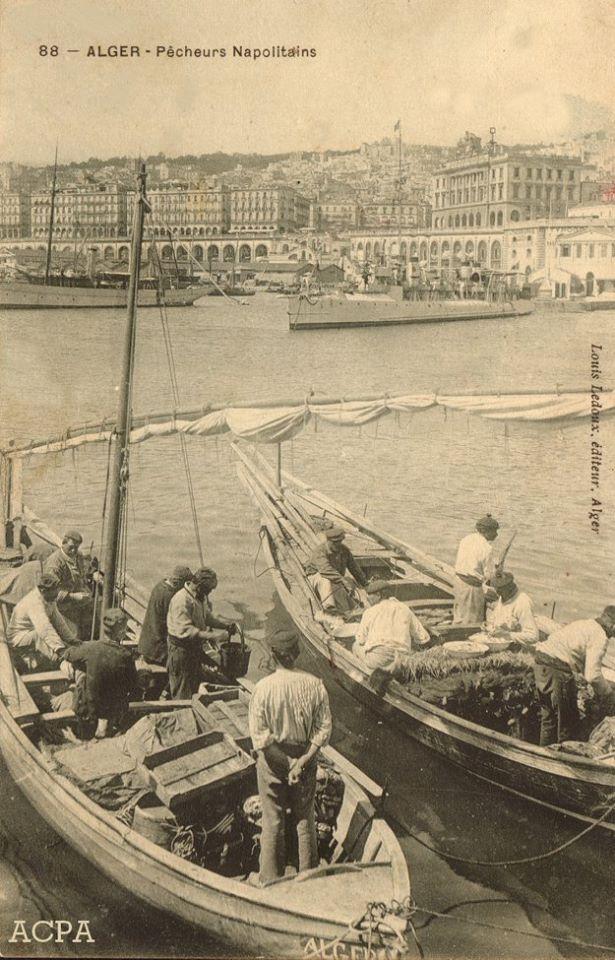 Alger pecheurs italiens napolitains danns les annees 1900