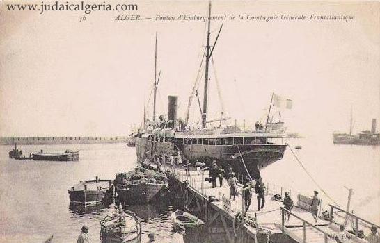 Alger ponton d embarquement de la compagnie generale transaltlantique