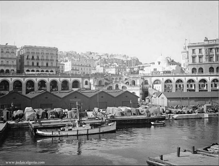 Alger un coin du port