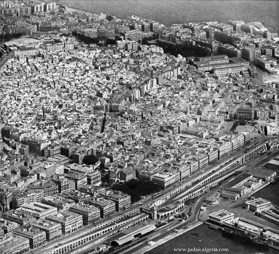Alger vue aerienne 1950