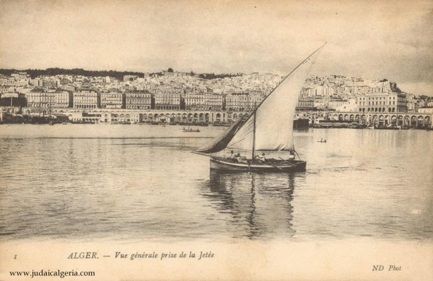 Alger vue generale de la jetee