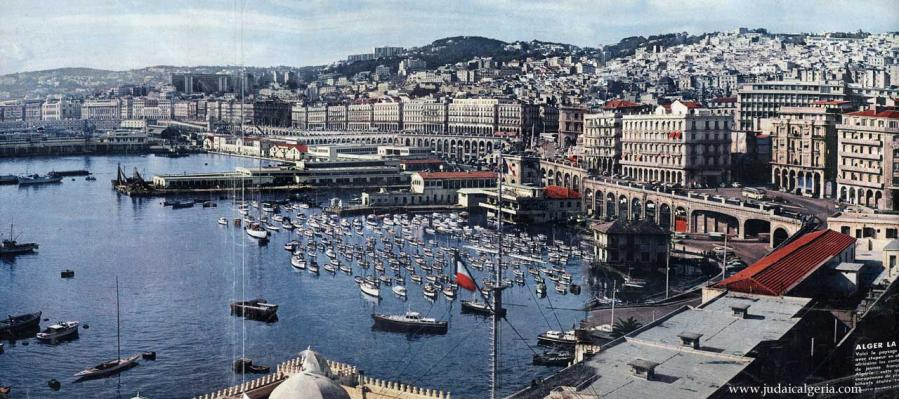 Alger vue generale du port 1962 copy