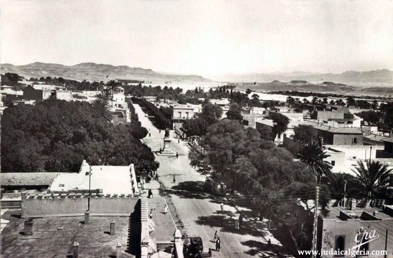 Biskra vue d ensemble et la grande avenue 1