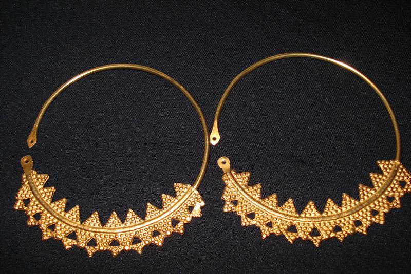 Boucle d oreilles en or