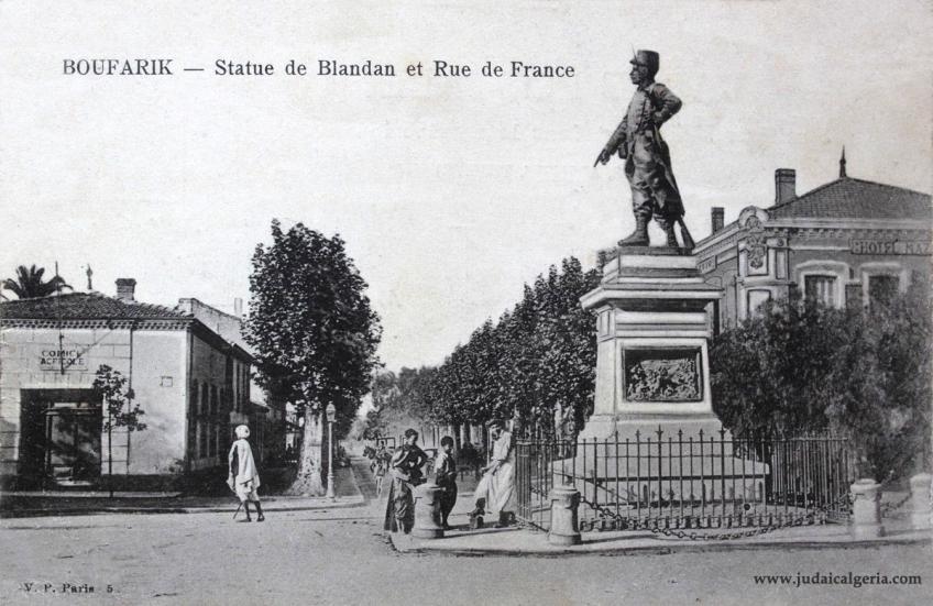 Boufarik statue de blandan et rue de france
