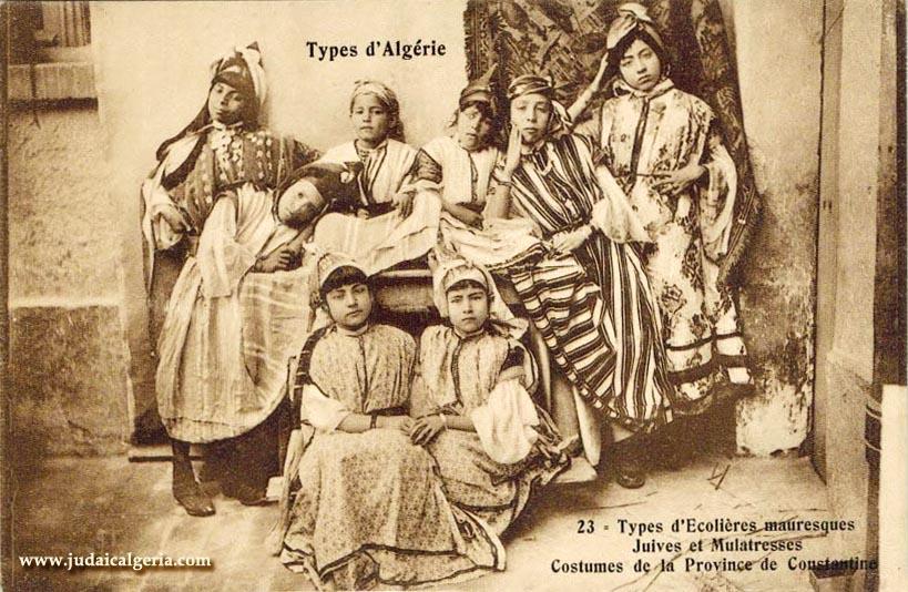 Constantine ecolieres juives et mauresques