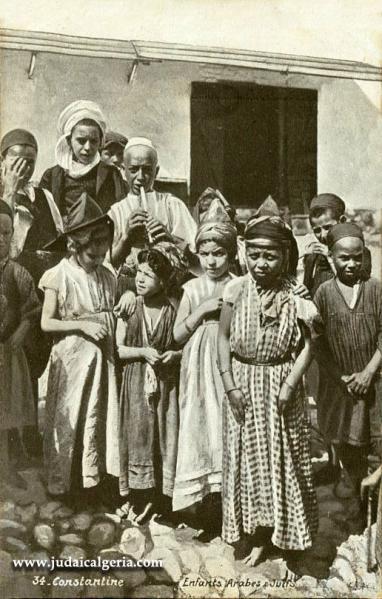 Constantine portraits enfants juifs et arabes
