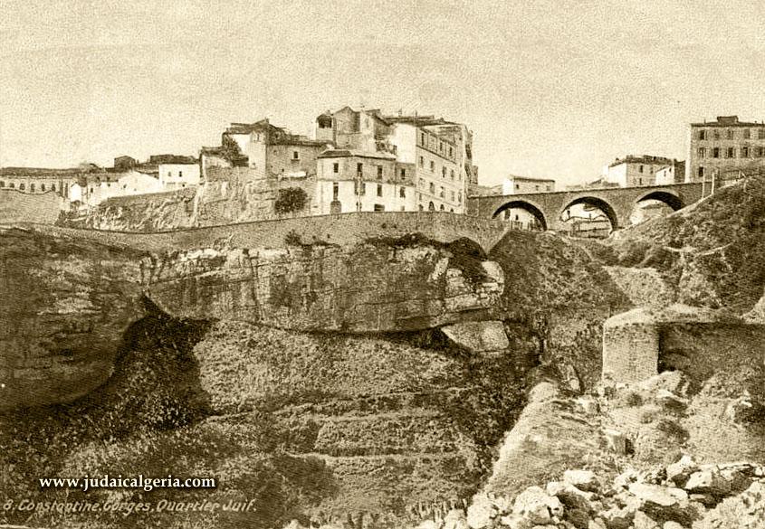 Constantine quartier juif au bord du ravin