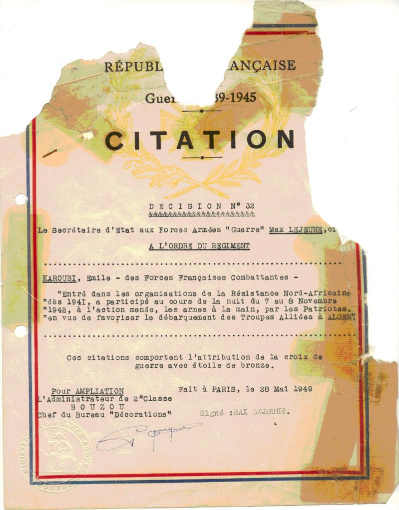 Emile karoubi citation