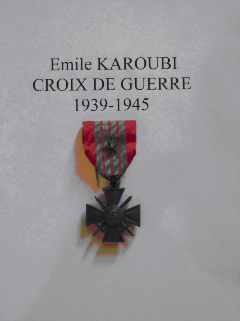 Emile karoubi croix de guerre