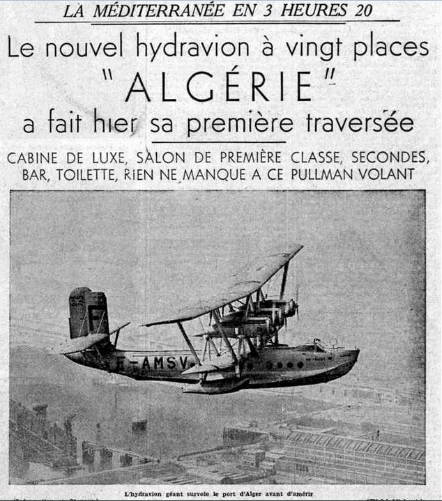 Hydravion algerie