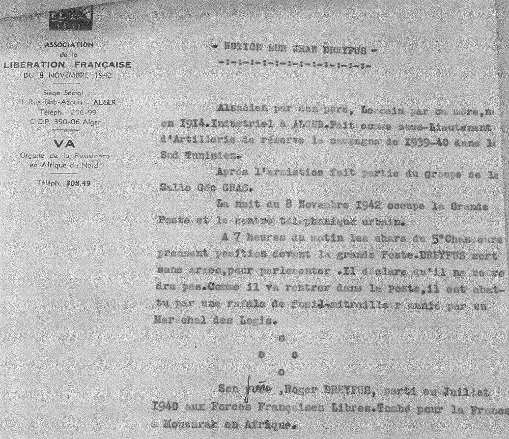 Jean dreyfus notice de l association de liberation francaise 1