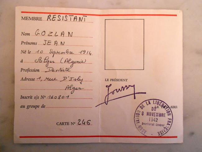 Jean gozlan carte association compagnons 8 nov