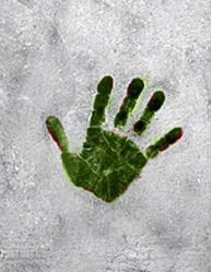 Juifs d algerie empreinte de la main sur le mur