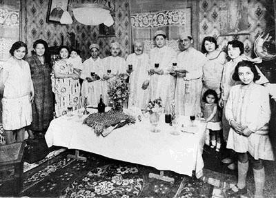 La famille rouche celebre le seder de pessah