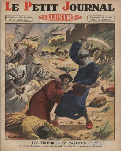 Le petit journal 1929 massacres jerusalem