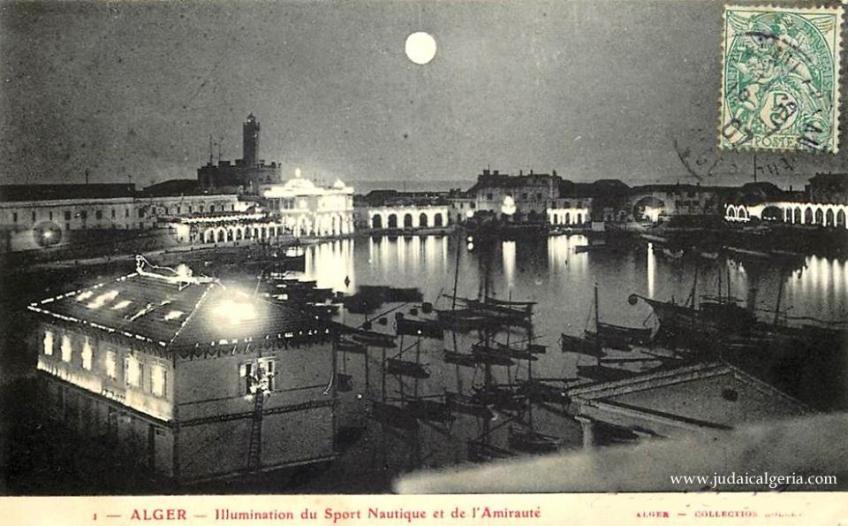 Le port vue nocturne