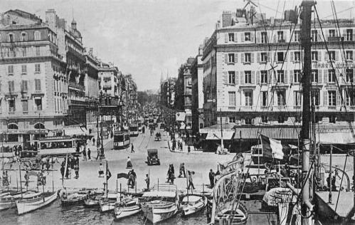 Marseille le port et la canebiere en 1930