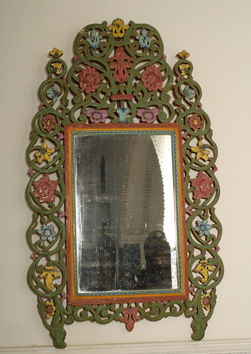 Miroir ancien algerie bois sculpte