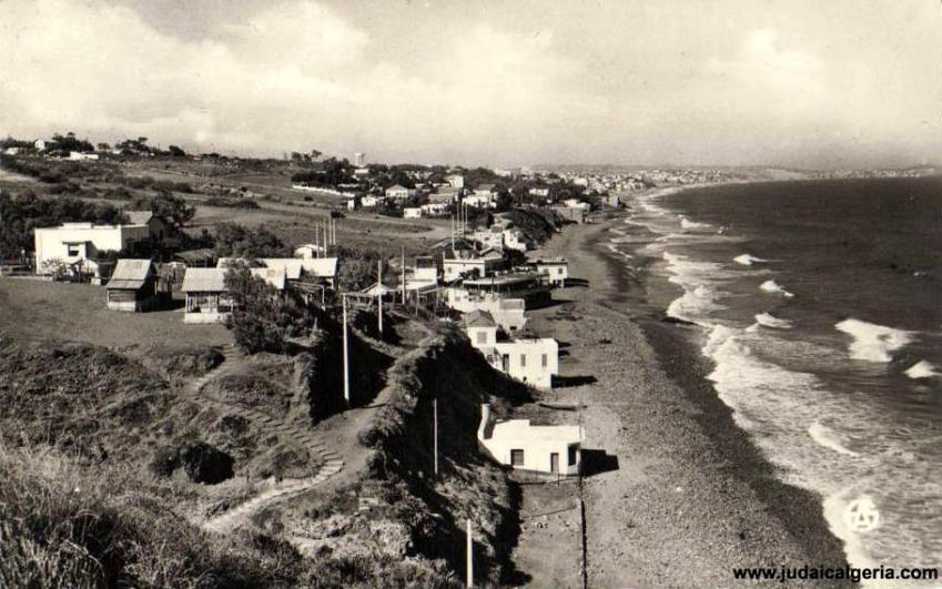 Oran plages de saint roch et de trouville 1961