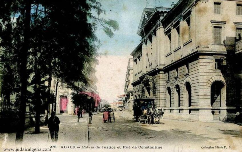 Palais de justice et rue de constantine