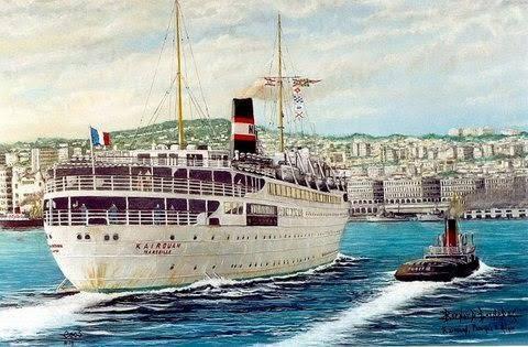 Paquebot le kairouan arrivant dans le port d alger