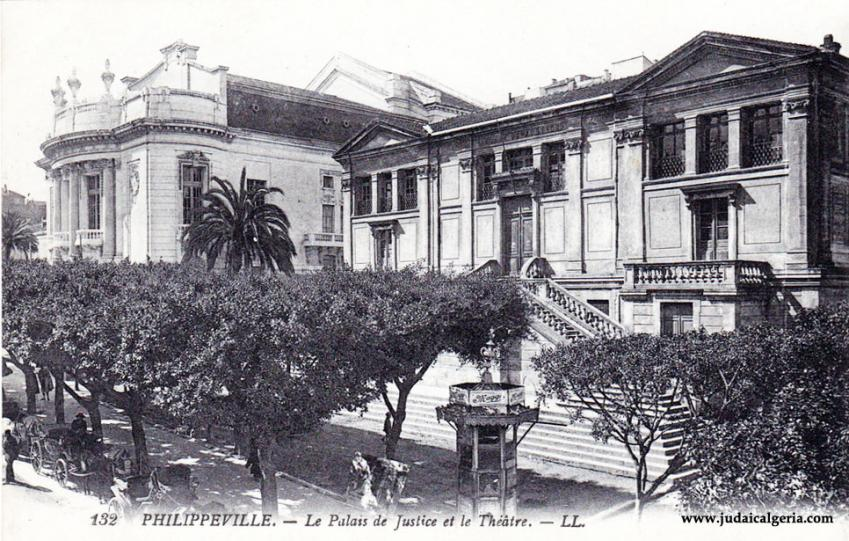 Philippeville le palais de justice et le theatre