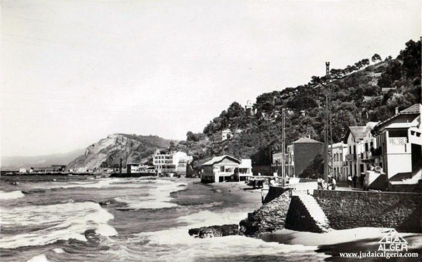 Philippeville route de la corniche et la plage