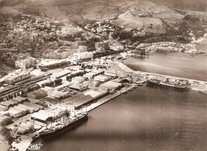 Philippeville vue aerienne du port