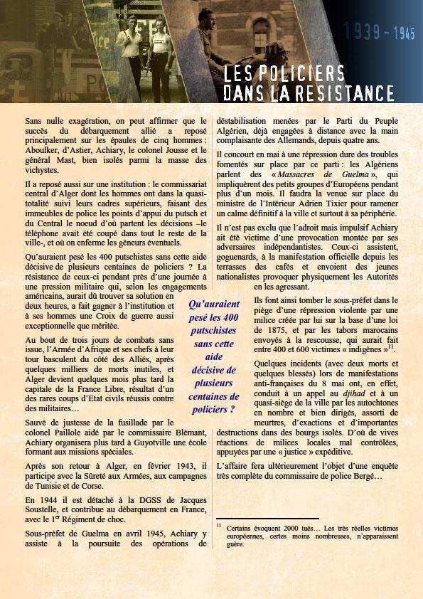 Policiers dans la resistance 4