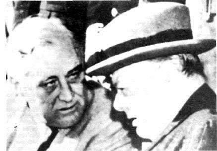 Roosvelt et churchill