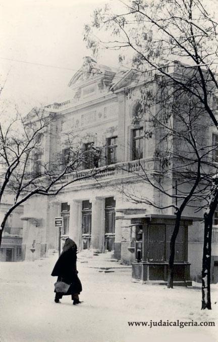 Setif sous la neige le theatre