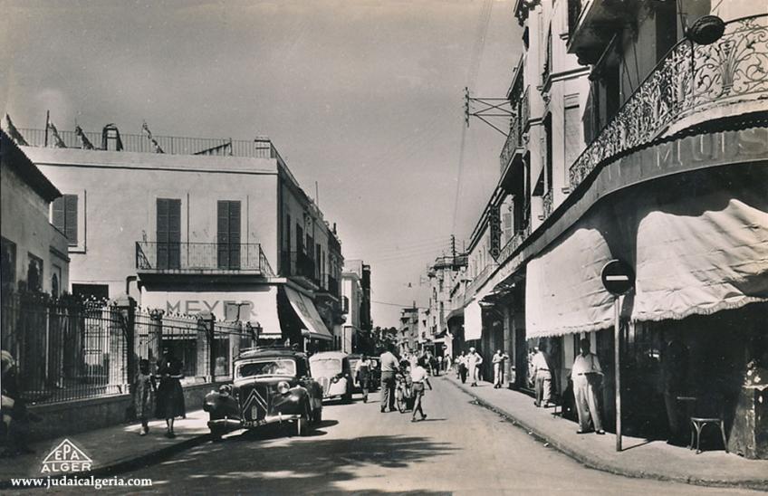 Tlemcen rue eugene etienne annee 1957