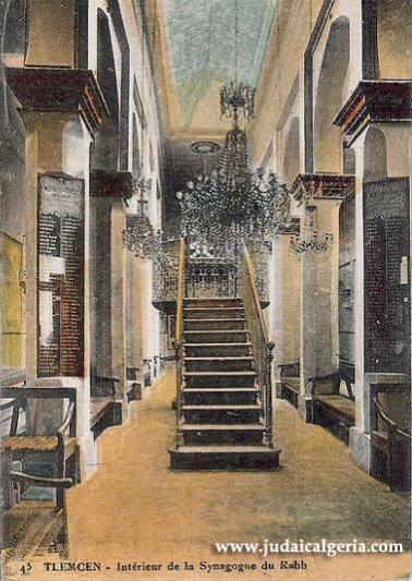 Tlemcen interieur de la synagogue du rabb