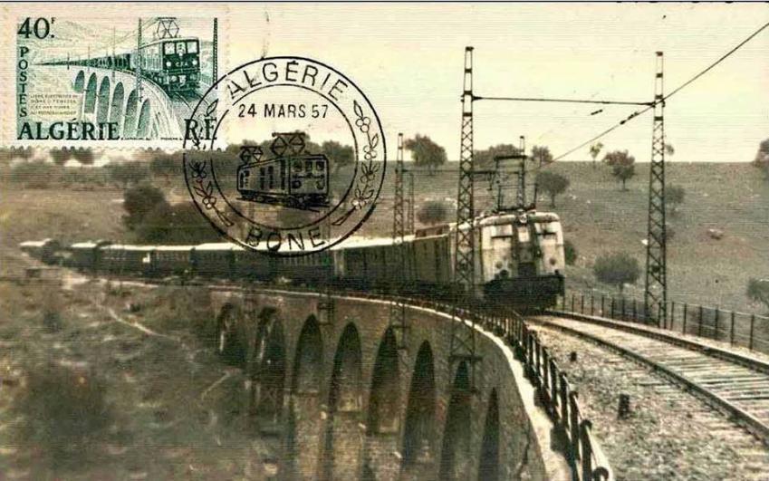 Train bone tebessa 1957 ligne electrique