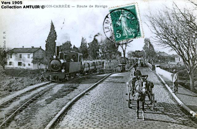 Train de la ligne de rovigo 1905
