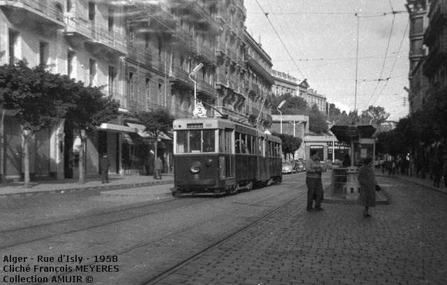 Tramway rue d isly alger 1958