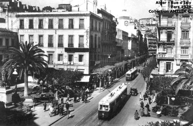 Tramway rue d isly vers 1938