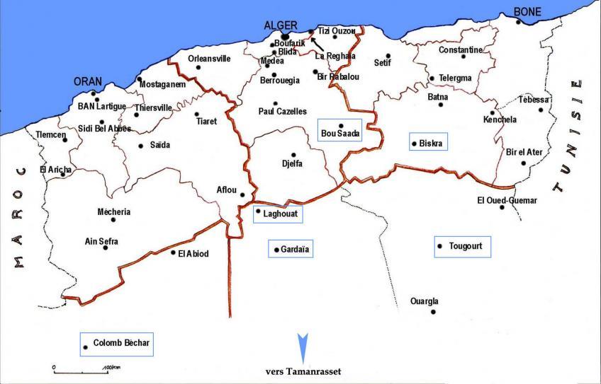 Carte Algerie Boufarik.Villes Et Paysages D Algerie