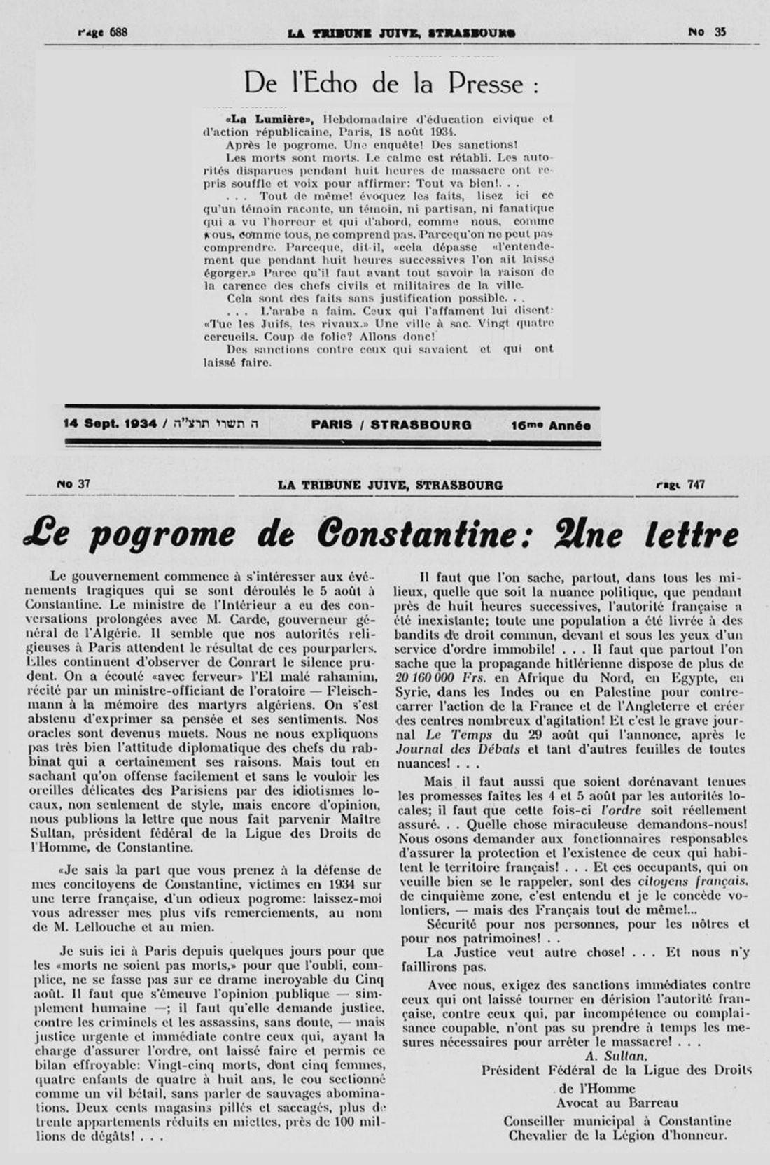11 le pogrom de constantine 5 aout 1934