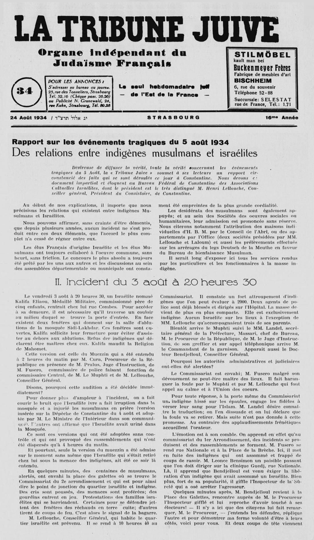 5 le pogrom de constantine 5 aout 1934