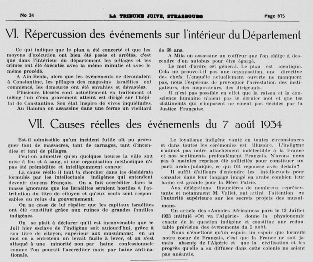 9 le pogrom de constantine 5 aout 1934