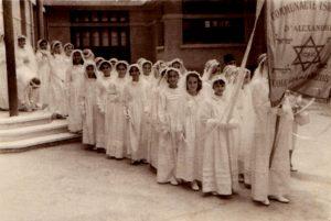 Alexandrie filles juives pendant la bat mitzvah