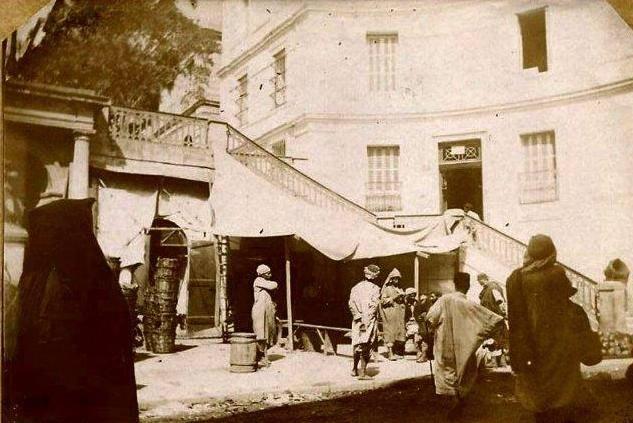 Alger 1895 escalier rue du theatre rue de la lyre