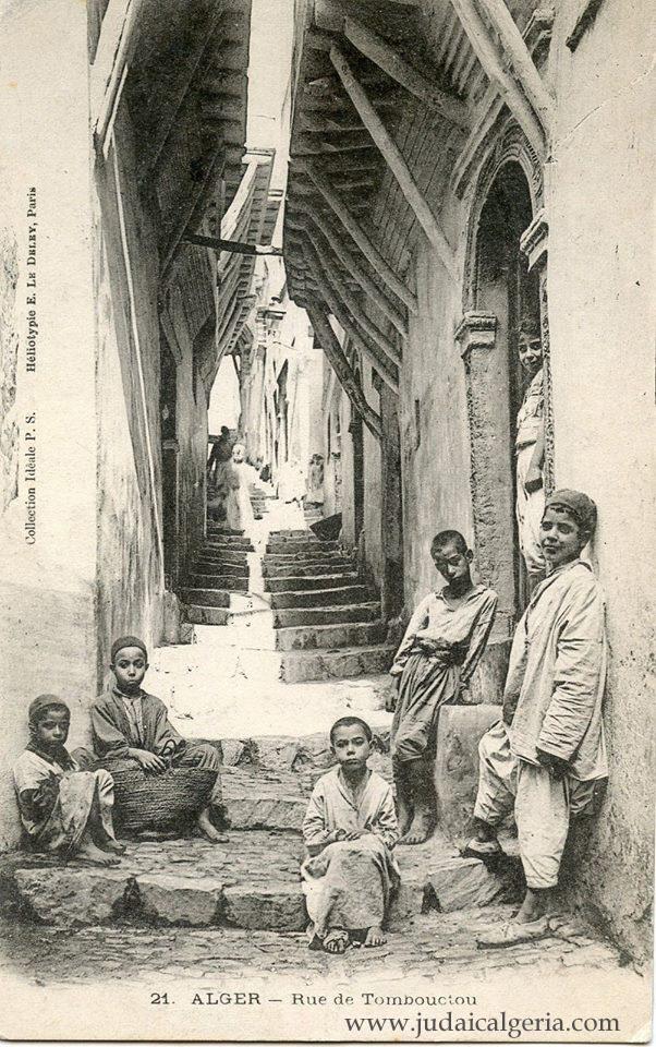 Alger la casbah rue de tombouctou