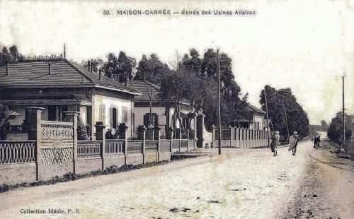 Alger maison carree entree des usines altairac